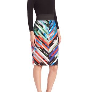 FLASH SALE 🖤 NWT MILLY Print pencil skirt